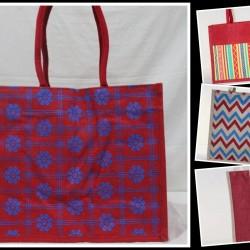 Multipurpose Combo Bags - Shopping Bag, Fancy Bag, Lunch Bag & Water Bottle Bag (Set of 4) - CB007