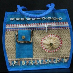 Multi Compartment Fancy Jute Bag - Random Colour Fancy Ladies Handbag with Zipper and Phone Pouch  (13 X 4 X 11 inches)