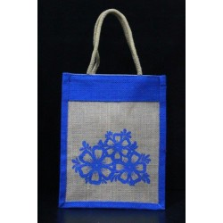 Small Gift Bags / Tambulam Bags for Auspicious Occasions / Navarathri - Random Colour Random Flower Print (8 X 6 X 10 inches)