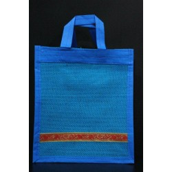 Small Gift Bags / Tambulam Bags for Auspicious Occasions / Navarathri - Random Colour And Border Zari With Velcro (9.5 X 3 X 11.5 inches)
