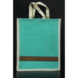 Small Gift Bags / Tambulam Bags for Auspicious Occasions / Navarathri - Random Colour And Border Zari With Velcro And Plain Colour Handle (9.5 X 3 X 11.5 inches)