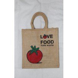 Multi Utility Lunch Bag - Love Food Print with Zipper (12.5 X 5 X 13.5 inches)