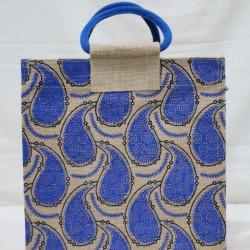 Multi Utility Lunch Bag - Random Colour Mango Print with Zipper (12 X 6 X 13 inches)