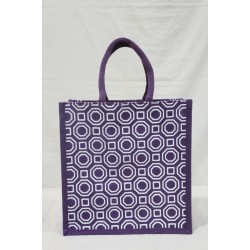 Multi Utility Lunch Bag - Random Colour and Shapes Print with Zipper (12 X 6 X 12 inches)