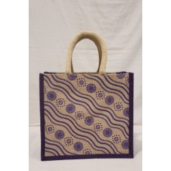 Multi Utility Lunch Bag - Random Colour Random Design Print with Zipper (12 X 5.5 X 11 inches)