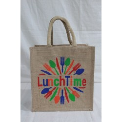 Multi Utility Lunch Bag - Cutlery Print with Zipper (11.5 X 6 X 12 inches)