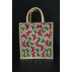 Multi Utility Lunch Bag - Random Colour Butterfly Print with Zipper (10 X 5.5 X 11 inches)