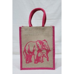 Gift Bags for Wedding and Other Occasions - Random Colour Animal Print with Zipper (9.5 X 6 X 12 inches)