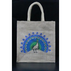 Gift Bags for Wedding and Other Occasions - Random Colour Peacock Print with Zipper (11 X 6 X 12 inches)