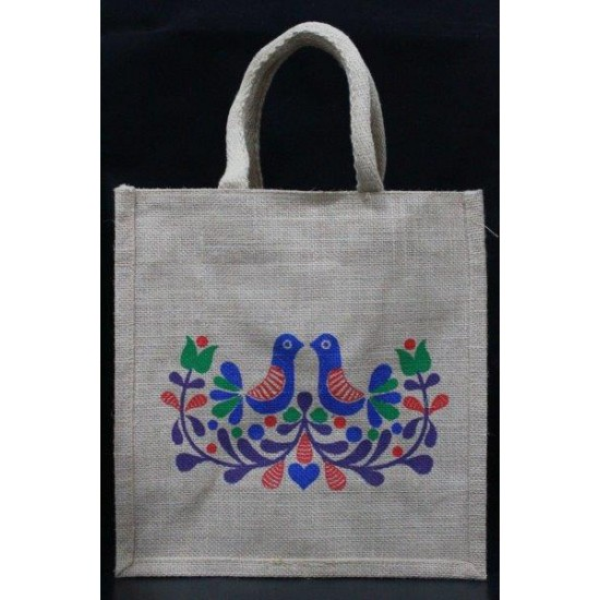 Gift Bags for Wedding and Other Occasions - Random Colour Love Birds Print with Zipper (12 X 6 X 12 inches)
