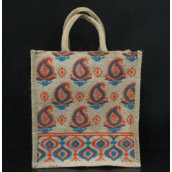Gift Bags for Wedding and Other Occasions - Random Colour Leaves Print with Zipper (10 X 5.5 X 11 inches)