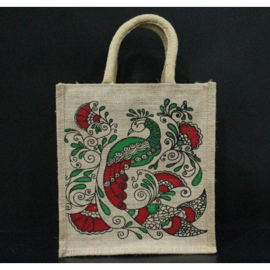 Gift Bags for Wedding and Other Occasions - Random Colour Peacock Print with Zipper (10 X 5.5 X 11 inches)